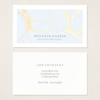 Business Card - Frame Marble Gold Blue