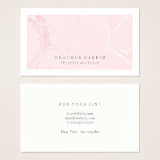 Business Card - Frame Marble Pink