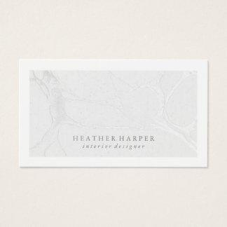 Business Card - Frame Marble Silver