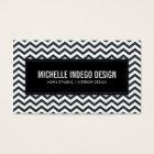 BUSINESS CARD fresh chevron pattern black white