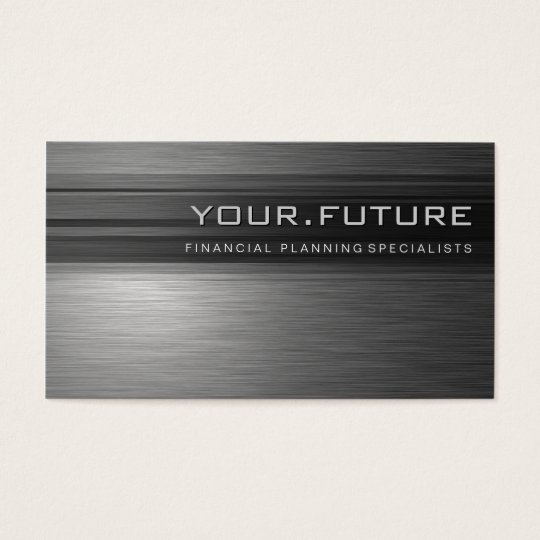 BUSINESS CARD :: futuristic modern metal L12