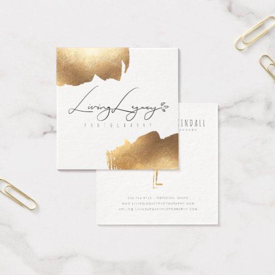BUSINESS CARD   Gold Brush Minimalist