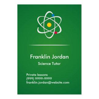Business card green particular professor