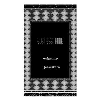 Business Card Grey Black Art Deco Business Card Template