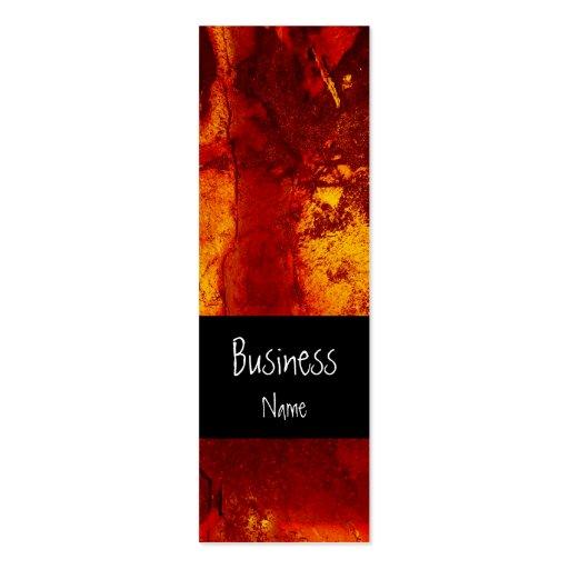 Business Card Grunge Rusty Orange