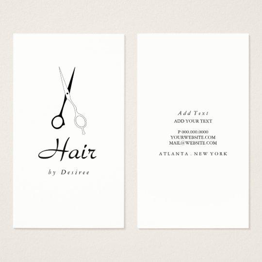 Business Card - Hair Stylist Simplistic Scissors