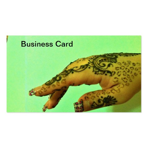 Business card henna tattoo zazzle for Business card size tattoos