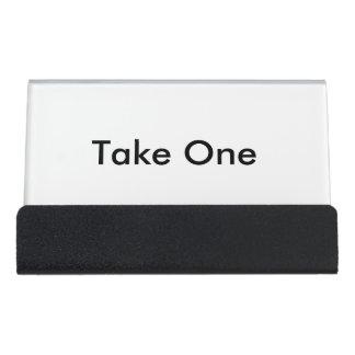 Business card holder desk business card holder
