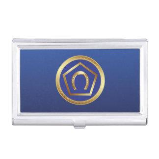 Business Card Holder: Germanna Foundation Logo Business Card Case
