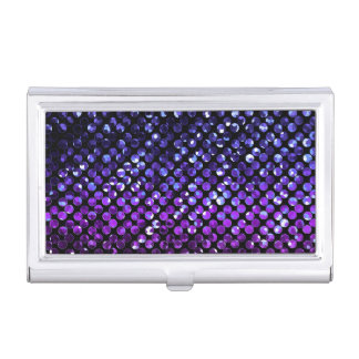 Business Card Holder Purple Crystal Bling Strass