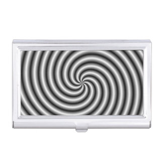 Business Card Holder The Swirl in Black and White