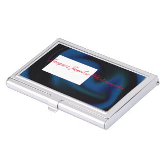 Business Card Holder with Retro Tie Dye Design