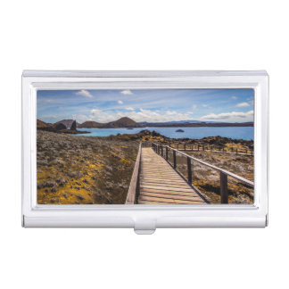 Business Card Holder With Tropical Paradise
