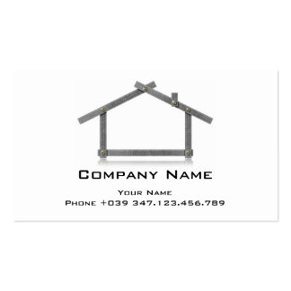 Business Card House Metal Meter Tool