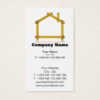 Business Card House Wood Meter Tool