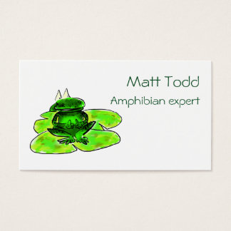 Business card Illustration of a frog