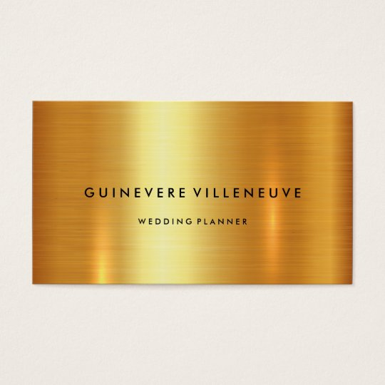 Business card in luxury faux gold customisable