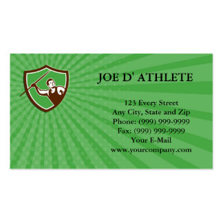 Business card Javelin Throw Track and Field Athlet