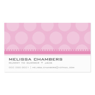 BUSINESS CARD large spot pattern pastel pale pink
