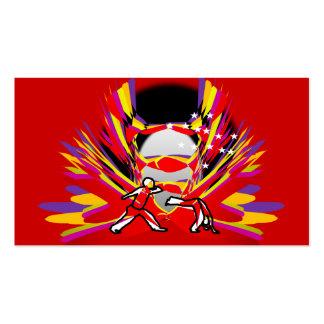 business card martial arts capoeira axe ginga