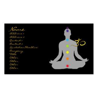 Business card, meditation and om symbol