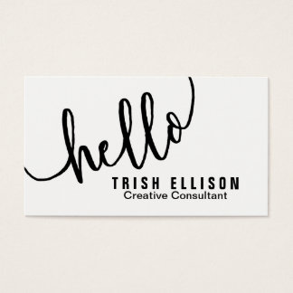Business Card Minimalist Custom Template Hello