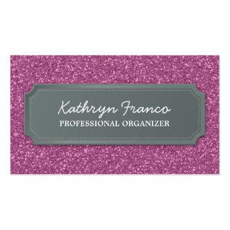 BUSINESS CARD modern bold sparkly pink glitter