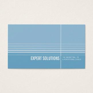 BUSINESS CARD modern minimal lines blue