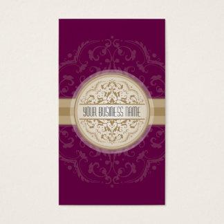 BUSINESS CARD modern oriental mandala plum gold