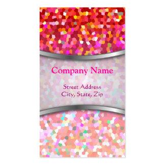 Business Card Mosaic Sparkley Texture