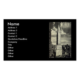 Business Card, New York City, Chrysler Building Pack Of Standard Business Cards
