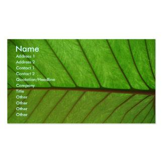 Business Card on a Leaf
