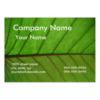 Business Card on a Leaf