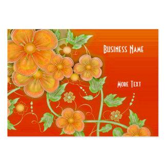 Business Card Orange Floral