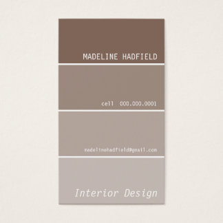 BUSINESS CARD paint chip swatch mocha brown