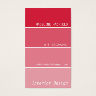 BUSINESS CARD paint chip swatch red