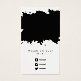 Business Card - Paint Splatter Black