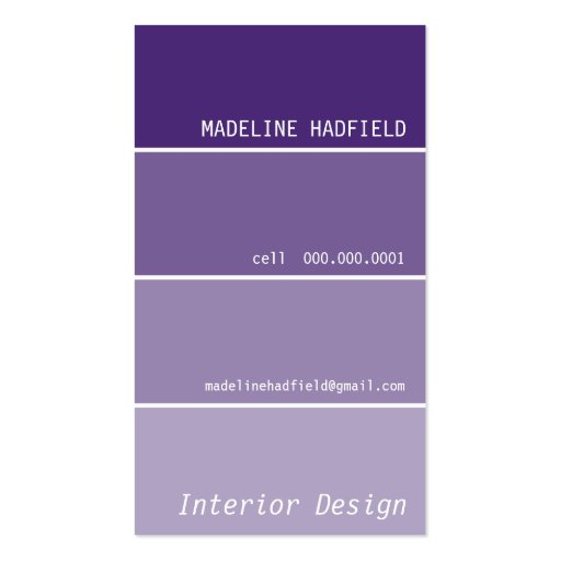 BUSINESS CARD :: paint swatch 2P