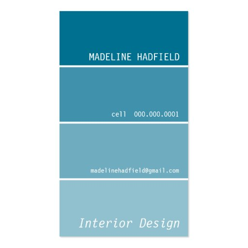 BUSINESS CARD :: paint swatch 3P