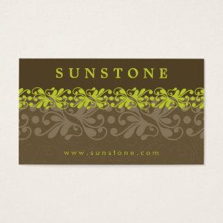 BUSINESS CARD :: patterned sunstone 1