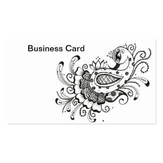 Business Card-Peacock and blossom-mehndi Pack Of Standard Business Cards