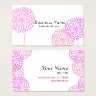 business card - pink dandelion