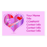 Business Card - Pink Heart, Valentine