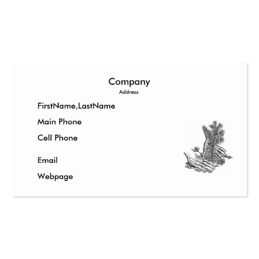 Business Card / Plant A Tree