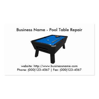 Business Card: Pool Table Repair