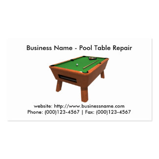 Business Card: Pool Table Repair Pack Of Standard Business Cards