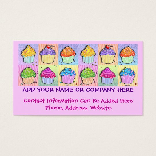 Business Card - Pop Art Cupcakes