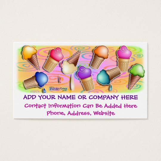Business Card - Pop Art Ice Cream Cones