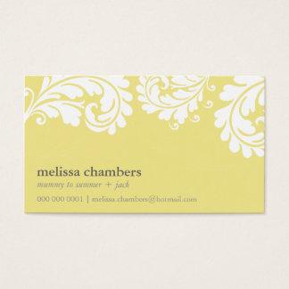 BUSINESS CARD pretty bold flourish lemon yellow