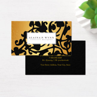 Business Card - Printed Duo Gold Black